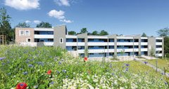 A block of 25 flats across multiple floors was built in Detmold as social housing.
