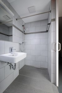 The client placed special emphasis on a comprehensive bathroom renovation that ensures accessibility.