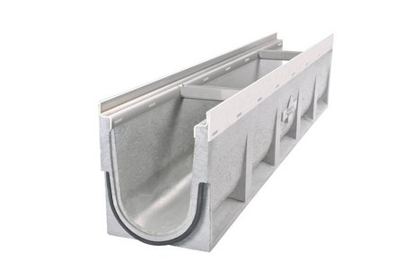 The Fortis concrete channel is designed for load classes A 15 to D 400. It can easily withstand the weight of delivery vehicles driving over it.