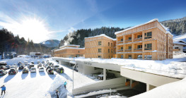 Opened in late 2018, the Tirol Lodge is located at the heart of the Wilder Kaiser-Brixental ski resort. Winter sports enthusiasts who come here are rewarded by a direct link to the cable car valley station.